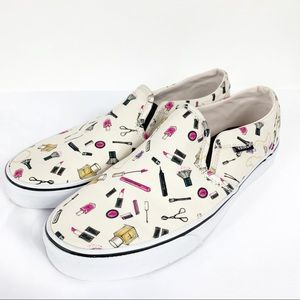 Vans Asher Size 10 Makeup Cosmetics Slip On Shoes